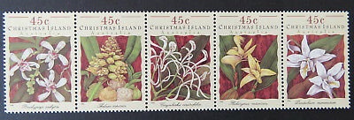 1994 Christmas Island Stamps - Orchids - Strip of 5 MNH