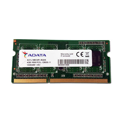 4GB DDR3 1600 MHz PC3L ADATA SO-DIMM AO1L16BC4R1 Arbeitsspeicher Notebook