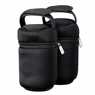 Tommee Tippee Insulated Bottle Bag, 2 Pack, Compact, Lightweight for Baby Travel