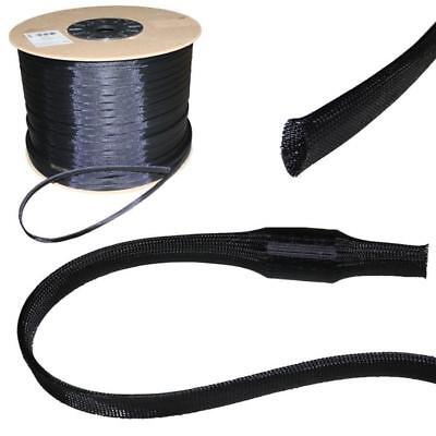 5m 40mm (30-52mm) Expandable polyester braid sleeve cable sleeves