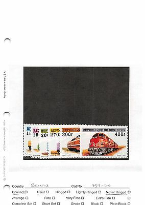 Lot of 40 Benin MNH Mint Never Hinged Stamps #98586 X R
