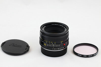 LEICA R 50 mm LEITZ  SUMMICRON - R 50mm F/2 LENS Only For leica R 50 1 1:2 *EXC*