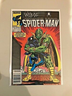 Web of Spider-Man #25 (Apr 1987, Marvel) Beware the Stalker From the Stars! VF-