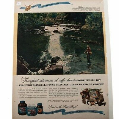 Lot of 6 Vintage Maxwell House Coffee Ads #18461