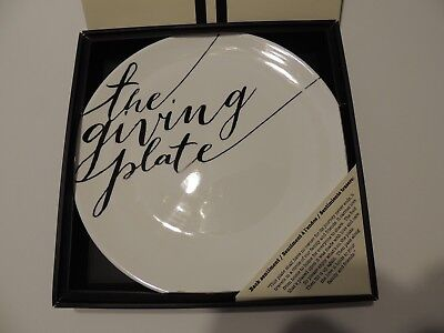 """Cypress Home Black Ink The Giving Plate 12"""" great gift in box permanent marker"""