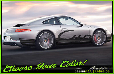 Porsche 911 991 Carrera Boxster Cayman GT GT3 RS CUP Stripe Graphics Decals