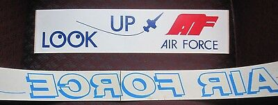 LOT of 2 vintage 1970's AIR FORCE BUMPER STICKERS