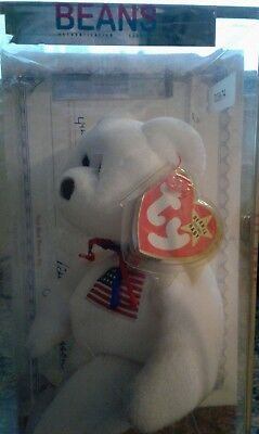 Libearty Beanie Baby in Sealed Cube with Certificate of Authenticity 3rd Gen.