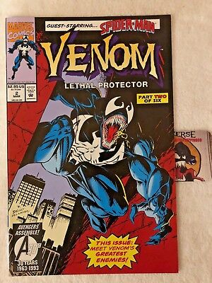 Venom Lethal Protector #2 1993 Spider-Man Part Two of Six VF Tom Hardy Movie