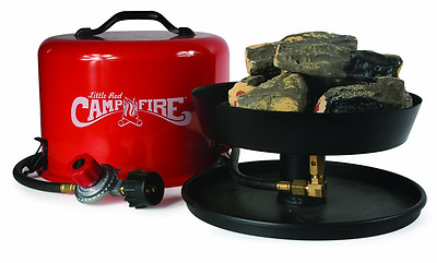 Portable Camp Fire Pit Propane Gas Camping Outdoor Backyard Patio 8 Ft Hose Log