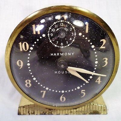 Vt Harmony House Desk Alarm Clock Windup CB-71 Ingraham Cream Color