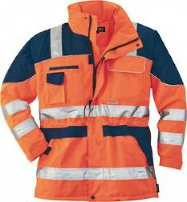 Warnparka, Gr. M, orange/blau