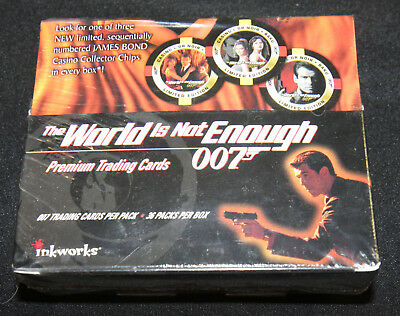 Inkworks JAMES BOND THE WORLD IS NOT ENOUGH Trading Card Box - Sealed - 36 Packs