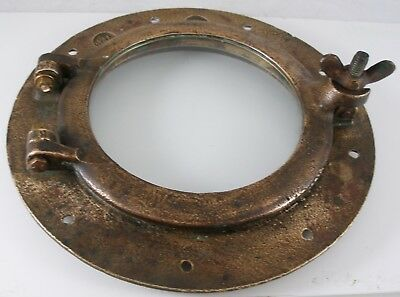 Antique bronze porthole,  porthole nautical  Wilcox Crittenden WC #7 porthole