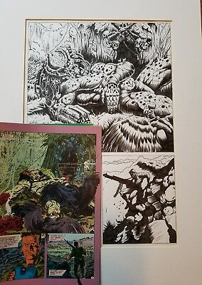 Predator Big Game 4 Of 4 Page 7 Signed And Drawn By Evan Dorkin Comic Included