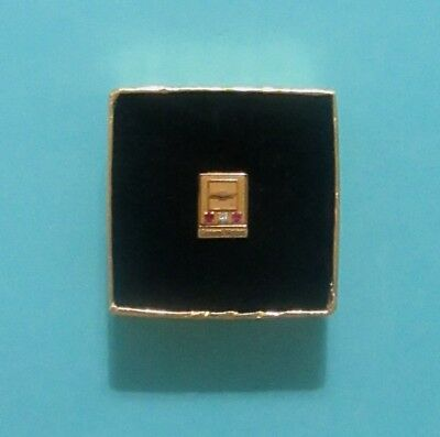 GM Chevrolet 30 year Service Pin 10K In Original Box Lapel Pin Tie Tac