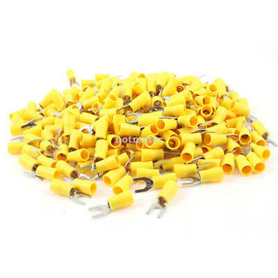 H● 500* SV5.5-5 Pre Insulated Fork Terminal Yellow for AWG 12-10 Wire Total 9 mm
