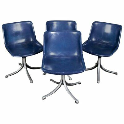Set of Four, Mid-Century Modern Knoll School Bucket Chairs, 20th Century