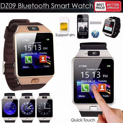 LATEST DZ09 Bluetooth Smart Watch Phone + Camera SIM Card For Android IOS Phones
