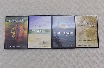 Howard Hughes Medical Institute HHMI BIOINTERACTIVE Lectures DVD New Lot of 4