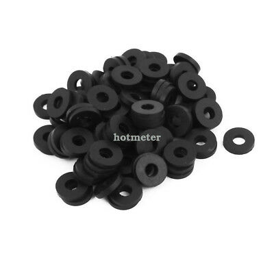 100Pcs 12mmOD O-Ring Hose Gasket Flat Rubber Washer Lot for Faucet Grommet Black