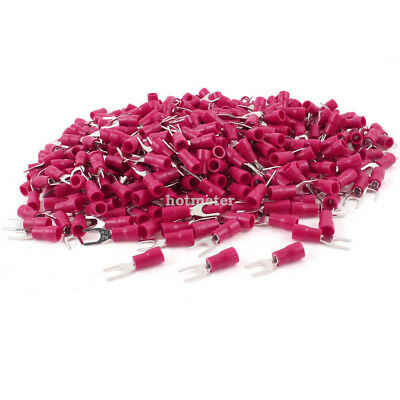 1000 Pcs SV1.25-4S Red Pre Insulated Fork Terminals for A.W.G 22-16 Wire 21.2 mm
