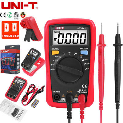 UNI-T UT33A+ LCD Digital Multimeter Handheld Auto Range AC/DC OHM Voltage Tester