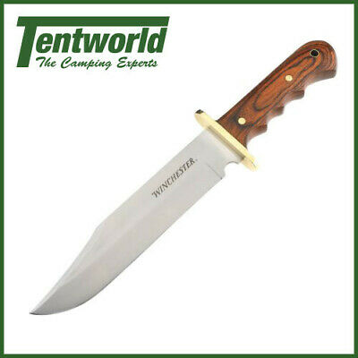 Winchester Fixed Blade Bowie Knife w/Wood Handle