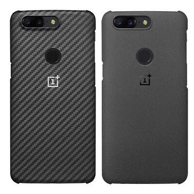 For Oneplus 5T 100% Original Sandstone Carbon Fiber Case Back Cover Protective