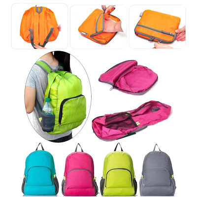 Portable Foldable Rucksack Travel Backpack Daypack Bag Sports Camping Hiking Hot