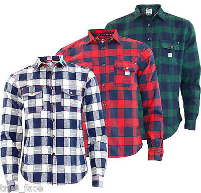 Mens Jacksouth Quality Flannel Lumber Jack Casual 100% Cotton Work Shirt