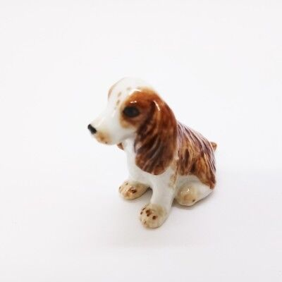 Miniature Charles Spaniel Dog Figurine Collectibles Ceramic Dolls Hand Decor