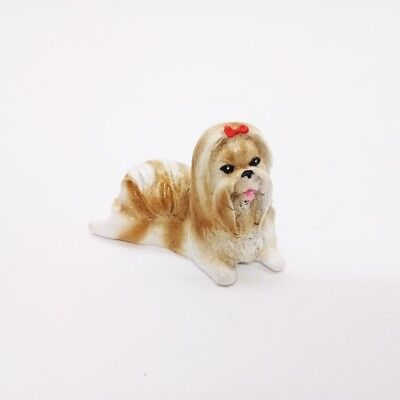 Miniature Dog Shih Tzu V.1 Cute Figurine Collectibles Resin Dolls Hand Decor