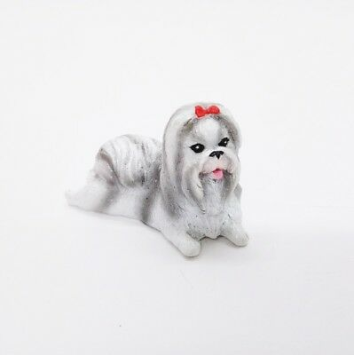 Miniature Dog Shih Tzu V.2 Cute Figurine Collectibles Resin Dolls Hand Decor
