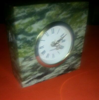 Vintage West German Mercedes Marble Alarm Clock