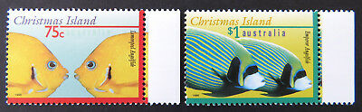 1995 Christmas Island Stamps - Marine Life Definitives Pt I - Set of 2 - Tab MNH