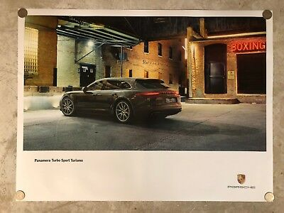 2017 Porsche Panamera Turbo Sport Turismo Showroom Advertising Sales Poster RARE