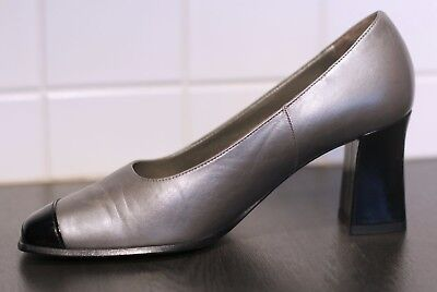 Details zu Peter Kaiser Damen Pumps Krokooptik WEST GERMANY TRUE VINTAGE Leder schwarz UK 5