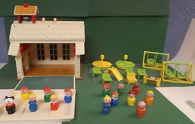 Fisher Price Vintage Play Family School #923 Little People & Extra Accessories