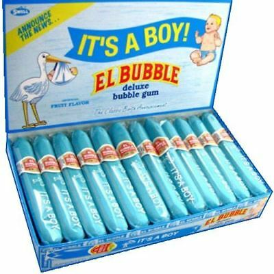El Bubble -  It's A Boy Bubble Gum Cigars, (Pack of 36) - FAST FREE SHIPPING!!!