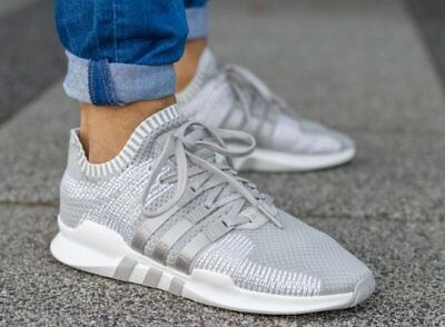 new arrival 8a0b8 3d64b New ADIDAS EQT Support ADV Primeknit Sneaker Mens gray white sizes 11.5-13