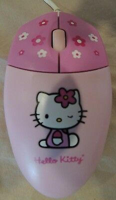 Hard To Find Hello Kitty Pink Computer Mouse Very Cute :)