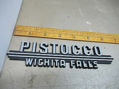Old Plastic Car Dealer Emblem Pictocco Wichita Falls
