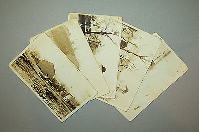 Old antique vtg Group five 1937 Post Cards Shawnee Ill Flood real photo RPPC PC