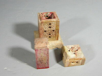 Chinese Soapstone Seal in Square Holder