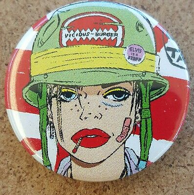 Tank Girl Pin Back Badge