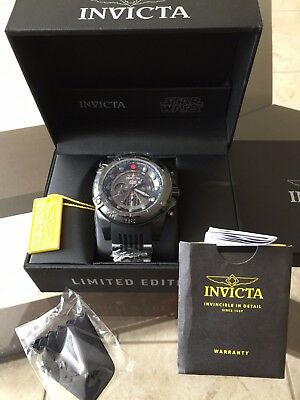 Invicta Star Wars Darth Vader Watch Ltd Edition 52mm with Free Priority
