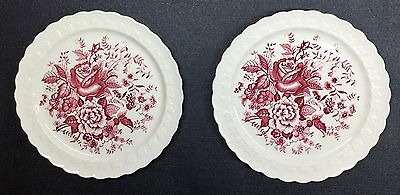 "Dogwood Pink 9"" Dinner Plates Taylor Smith & Taylor USA Dinnerware Lot Of 2"