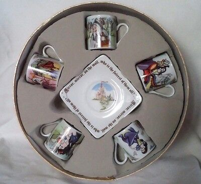 Snow White Paul Cardew Tea Party 10 Pc Set 3 oz Cups and Saucers Box New