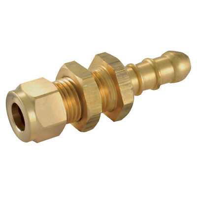 """Wade Brass Compression Fittings - 3/8"""" Od X 5/16""""tube Nozzle Adaptor 9-00679"""